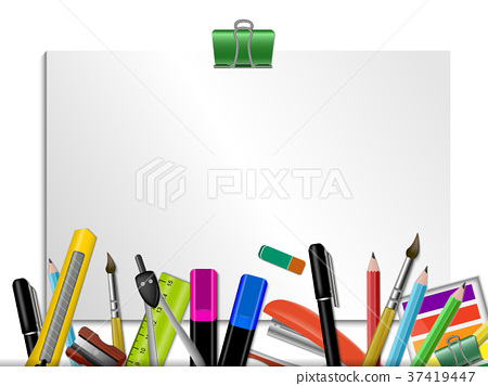 Stationery Colored Background 37419447