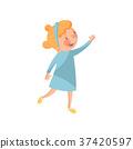 girl, vector, kid 37420597