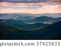 forested rolling hills of Carpathian mountains 37425633