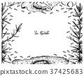 Hand Drawn Frame of Nori and Hijiki Seaweed 37425683