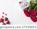 Valentines concept with bouquet of roses and 37426654