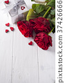 Valentines concept with bouquet of roses and 37426666