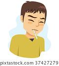 Man Fever Symptom 37427279