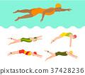 vector, style, swim 37428236