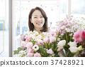 꽃집, 미소, 상점 37428921