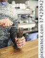 손, 원두, 커피 37429042