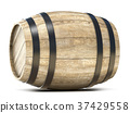 Wooden barrel. 3D 37429558