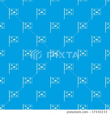 South Korea flag pattern seamless blue 37430233