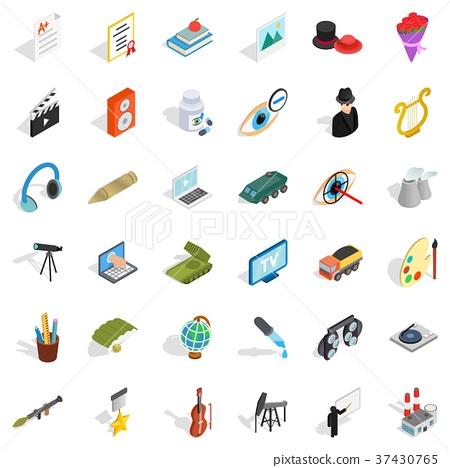 Job icons set, isometric style 37430765