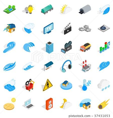 Vigor icons set, isometric style 37431053
