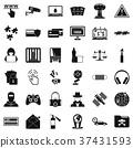 crime, icon, simple 37431593