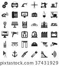 wheelbarrow, icon, simple 37431929