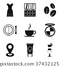 Beautiful appearance icons set, simple style 37432125