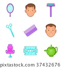 different, hairstyle, icons 37432676