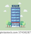 Hotel building in flat style 37436287