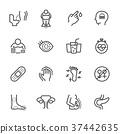 Diabetes Symptoms, Simple thin line icons. 37442635