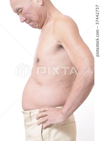 뚱뚱한 남자의 배 37442737