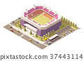 Vector isometric low poly soccer stadium 37443114
