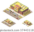 isometric, vector, supermarket 37443118