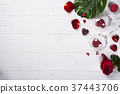 red roses and chocolate candies for Valentine's 37443706
