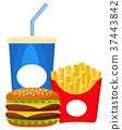 burger soda fast 37443842