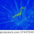 日本地圖 日本列島 綠色 37447040