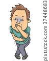 Man Stomach Ache Vomit 37448683