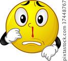 Mascot Smiley Nosebleed Illustration 37448767