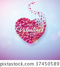 valentine, design, vector 37450589