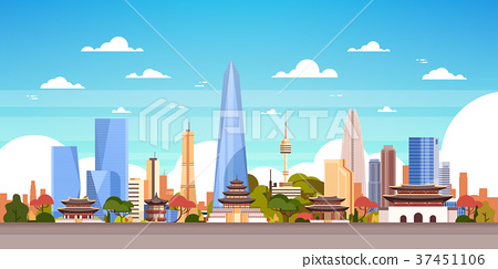 Seoul City Background South Korea Skyline View 37451106