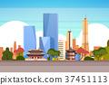 Seoul City Background Skyline View With 37451113