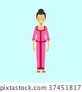 Asian Woman In Traditional Dress Vietnamese Female 37451817