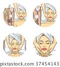 Vector set of female avatars in pop art style 37454143