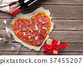 Heart shaped pizza 37455207