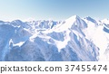 Huge snow-capped mountains 3D render 37455474