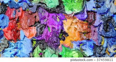生動的豪華手潤滑油內景白色背景:感覺藝術性的背景的抽象手 37459811
