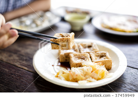 Taiwanese traditional food :Stinky tofu 37459949