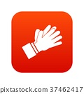 Clapping applauding hands icon digital red 37462417