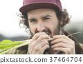 農業蔬菜收穫外國人男子 37464704