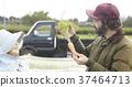 菜收穫農夫婦女和外國人 37464713