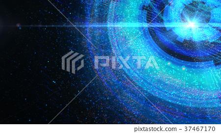 Abstract futuristic multicolored digital backgroun 37467170