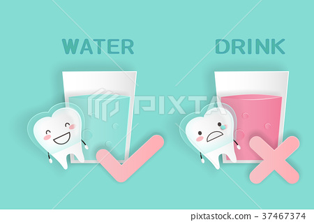 cute cartoon tooth 37467374