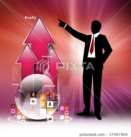 Business man looking financial graph 37467806