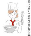 女厨师糕点厨师 37467986