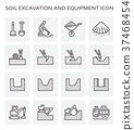 soil excavation icon 37468454