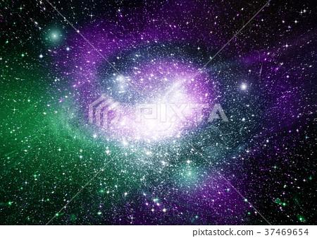 Stars, dust and gas nebula in a far galaxy 37469654