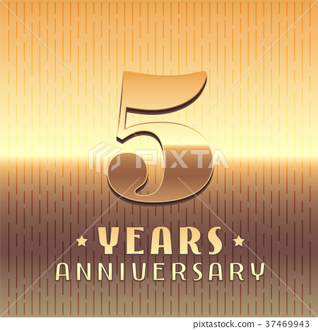 5 Years Anniversary Vector Icon Symbol Stock Illustration