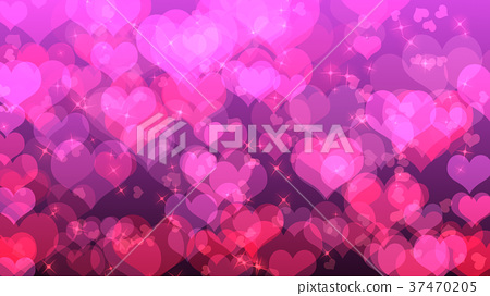 Valentine's day background with hearts, on pink 37470205