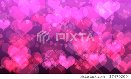 Valentine's day background with hearts, on pink 37470209