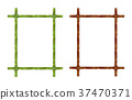 bamboo, frame, set 37470371